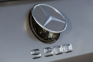 Mercedes-Benz S-Class Coupe - Badge and rear camera detail