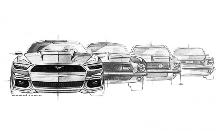 Ford Mustang Design Evolution - Sketches by Kemal Curic