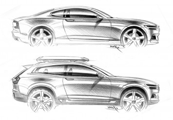 Volvo Concept Coupe and Concept XC Coupe - Design Sketches