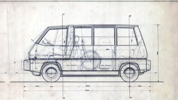 1976 Alfa Romeo New York Taxi Prototype - Package drawing