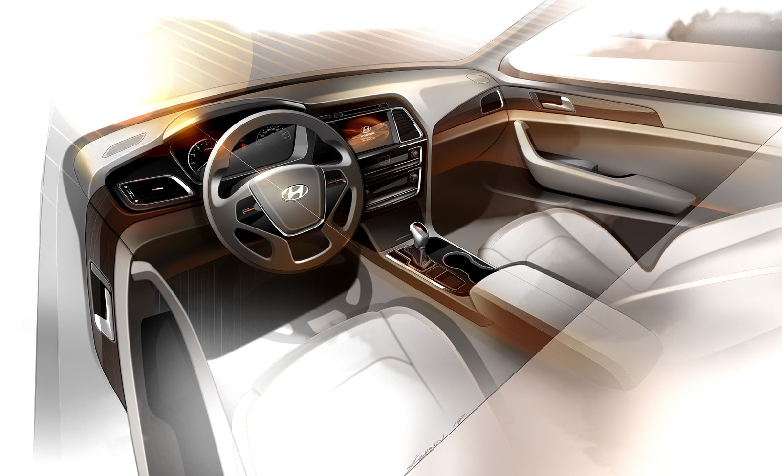 2015 Hyundai Sonata - Interior Design Sketch