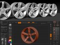 Fast 3D wheel design in ZBrush
