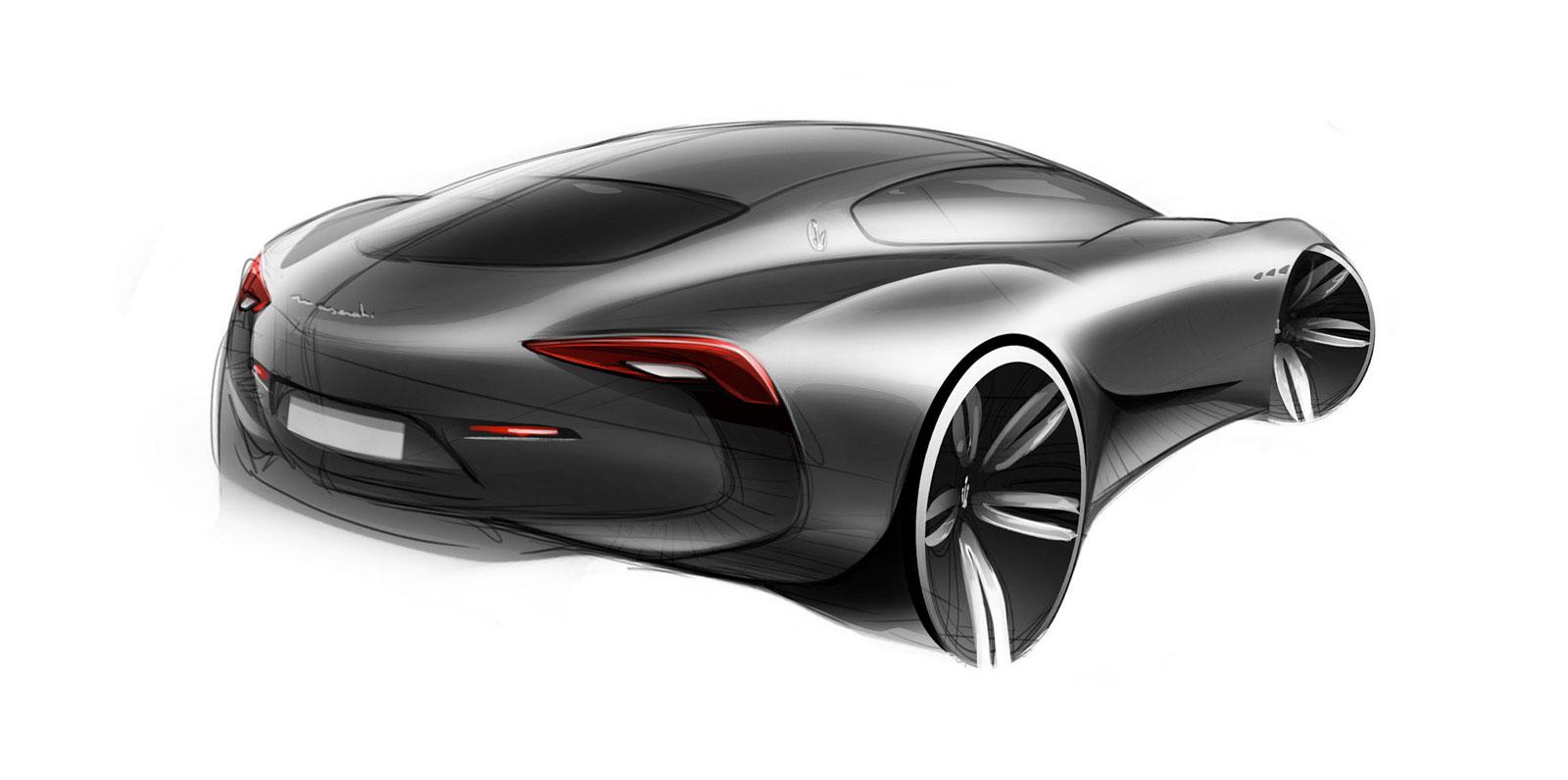 Maserati Alfieri Concept Design Sketch Car Body Design