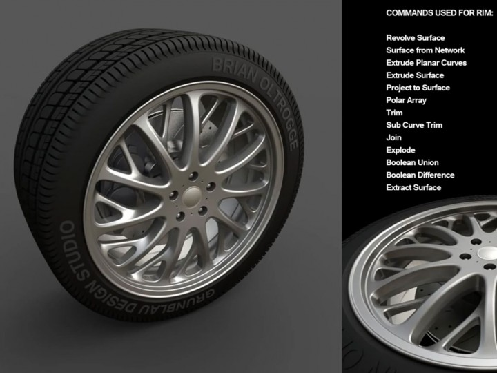 Modeling an Automotive Tire in Rhino V5