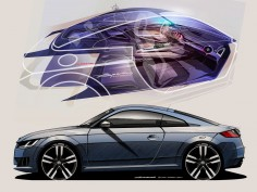 New Audi TT: design sketch gallery