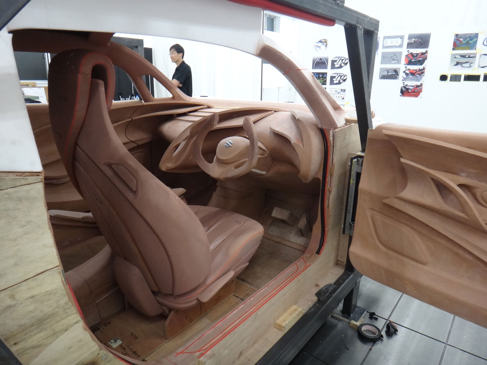 Suzuki Crosshiker Concept Interior Clay Model Construction Process