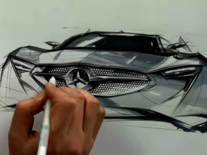 Car design and sketch demonstration