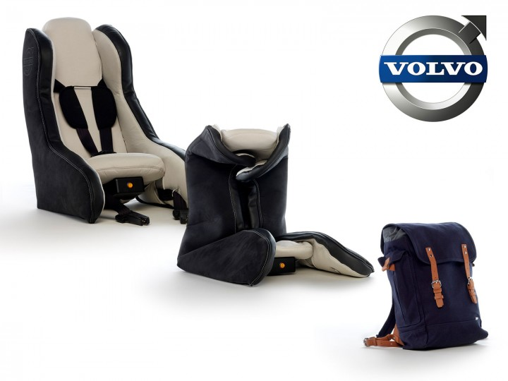 Volvo unveils inflatable child seat concept