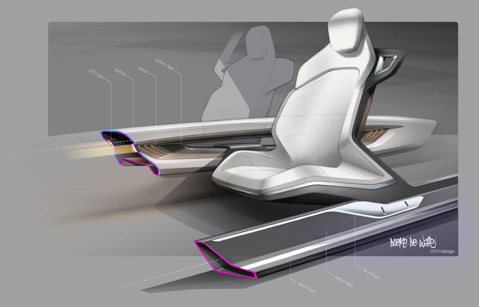 Bmw Vision Future Luxury Concept Interior Design Sketch