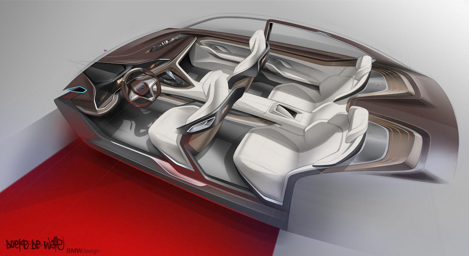 Brilliant Bmw Vision Future Luxury Concept Interior Design Sketch By Interior Design Ideas Tzicisoteloinfo