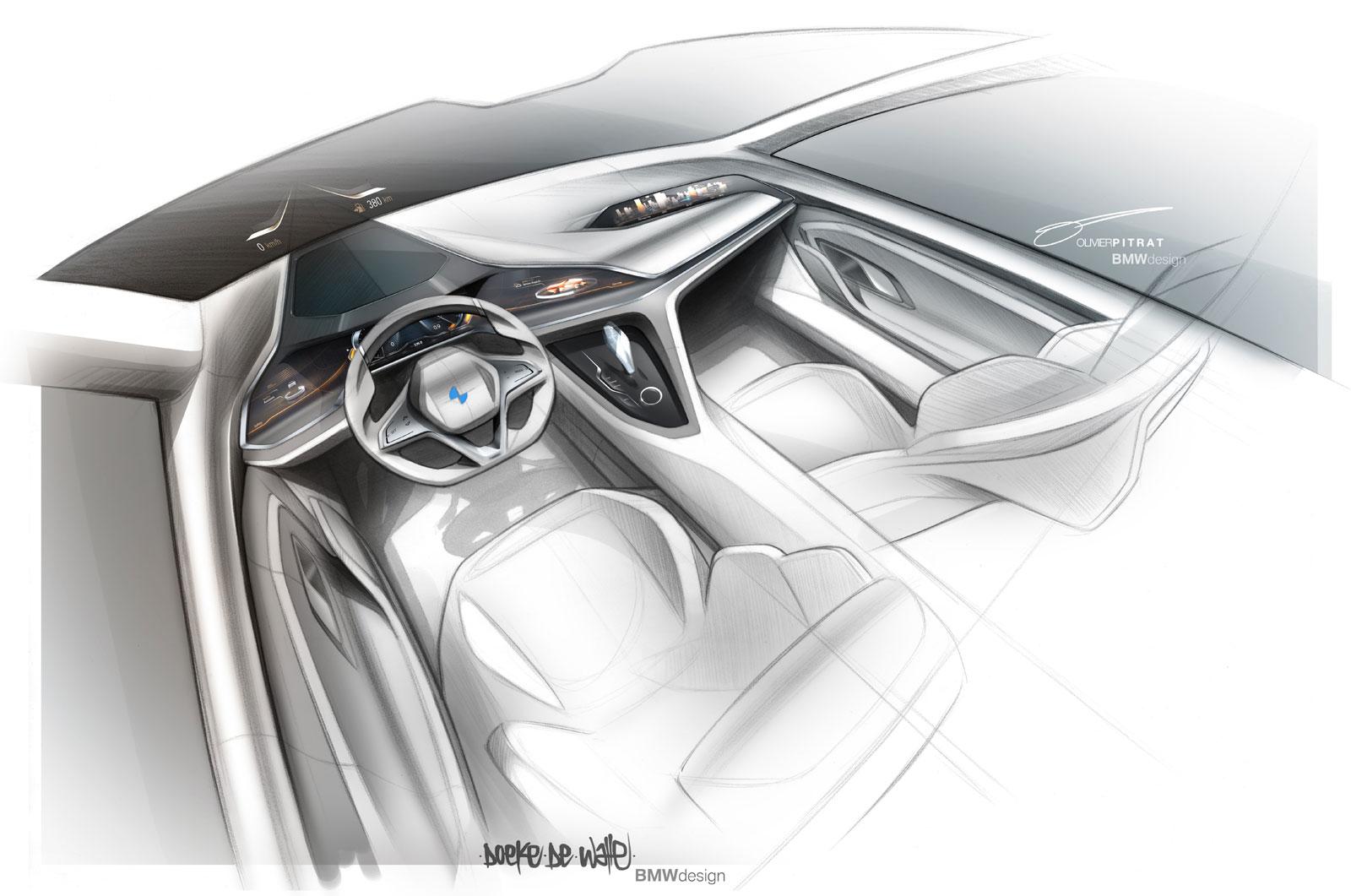 Bmw Vision Future Luxury Concept Interior Design Sketch By Doeke De Walle Car Body Design
