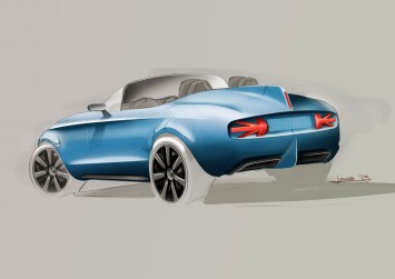 MINI Superleggera Vision Concept Design Sketch
