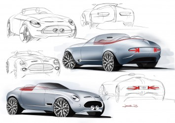 MINI Superleggera Vision Concept Design Sketches