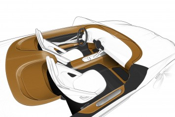 MINI Superleggera Vision Concept Interior Design Sketch