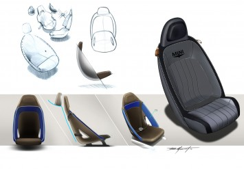 MINI Superleggera Vision Concept Interior Design Sketches Seat