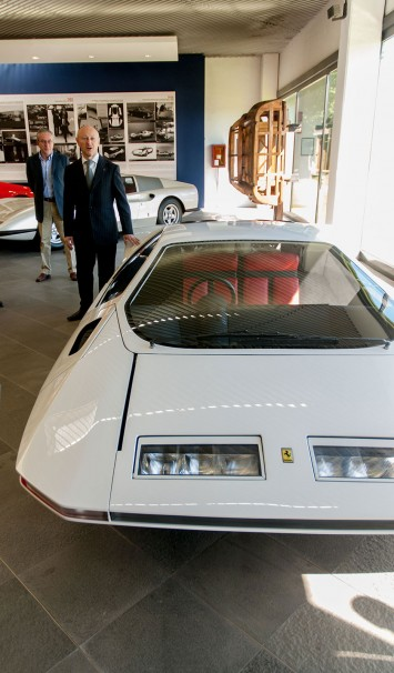 Fabio Filippini and the Modulo at the Pininfarina Museum