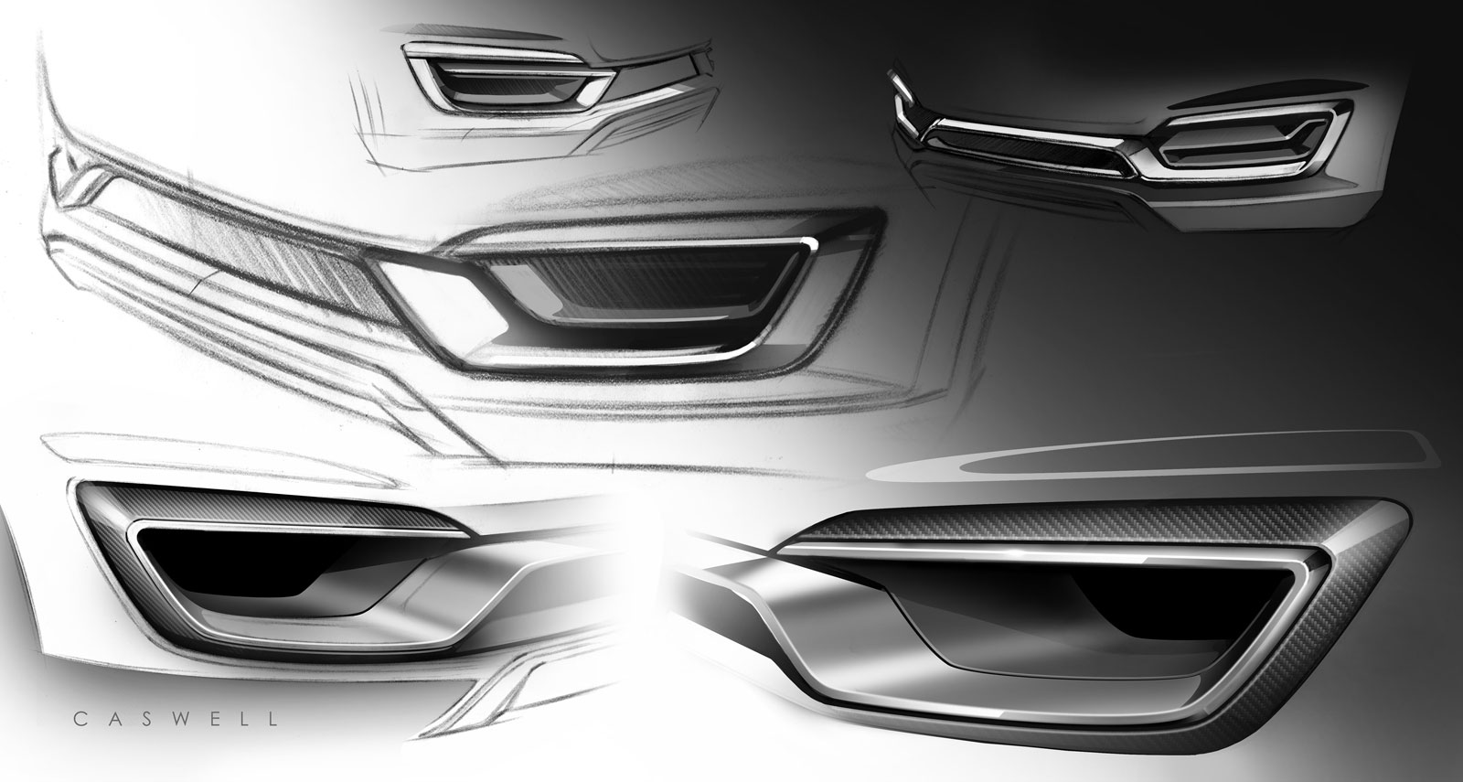 lincoln mkx concept - details design sketches by-john caswell