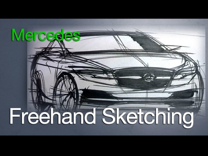 Mercedes-Benz dry marker sketch
