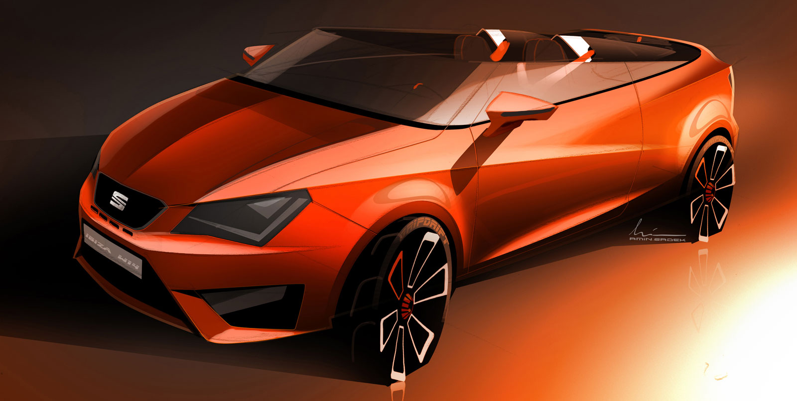 Seat Ibiza Cupster Concept Design Sketch Car Body Design