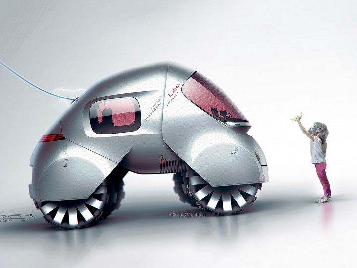 Peugeot designer turns children's drawings into concepts