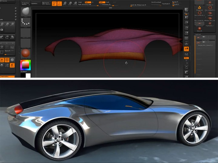 Exporting ZBrush 3D models for Autodesk VRED