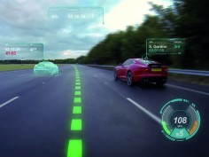 Jaguar Land Rover previews videogame-inspired Virtual Windscreen technology