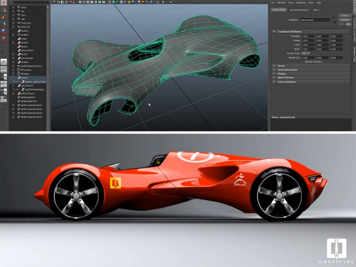 Resurfacing A Zbrush Concept Car Model Car Body Design