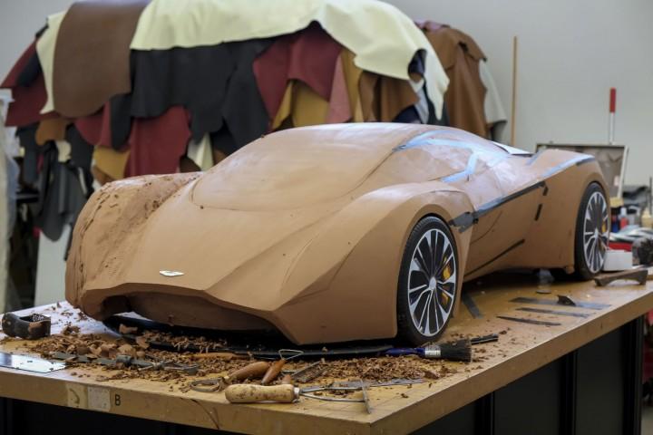 Clay modelling car body design.