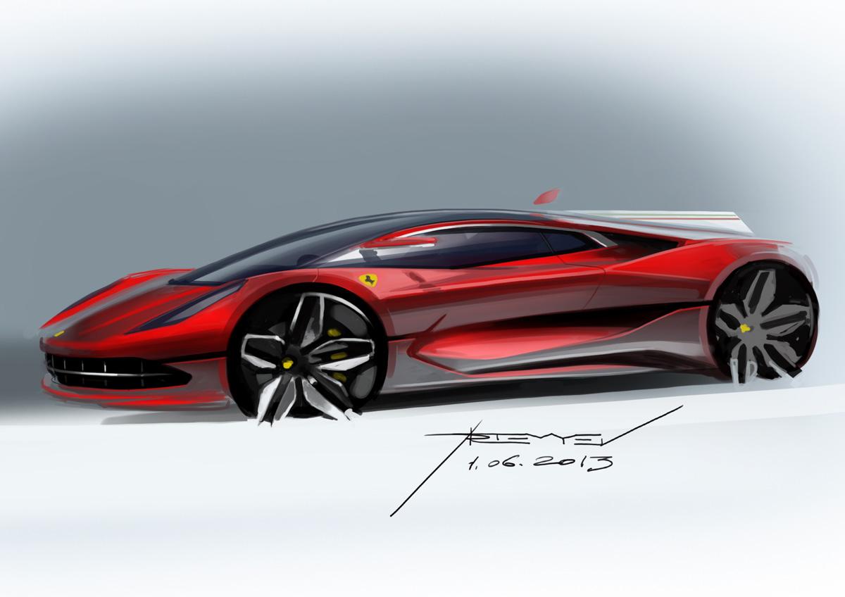 The Ferrari LaFerrari Development Sketches @motocrit |Ferrari Design Sketches