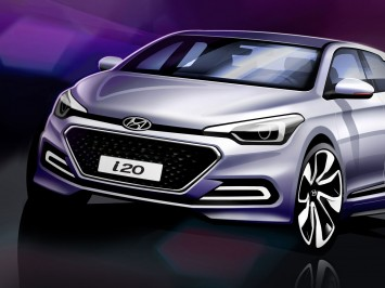 Hyundai i20 - Design Sketch detail