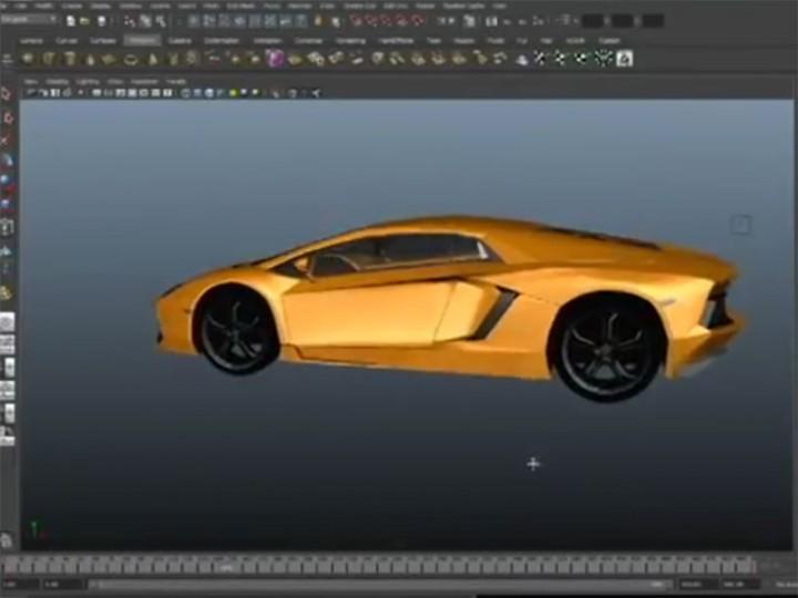 3d Timelapse Lamborghini Aventador Modeled In Autodesk Maya Car
