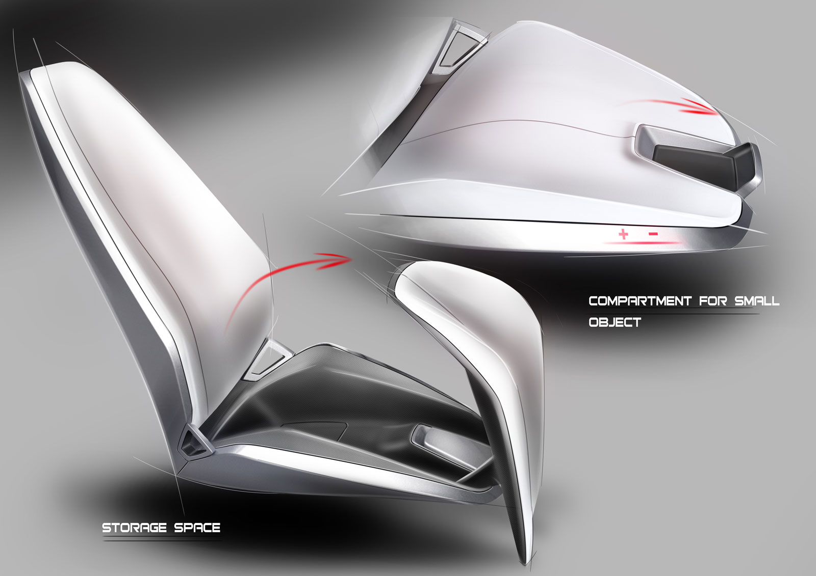 Spd Concept Car Interior Seat Design Sketches Car
