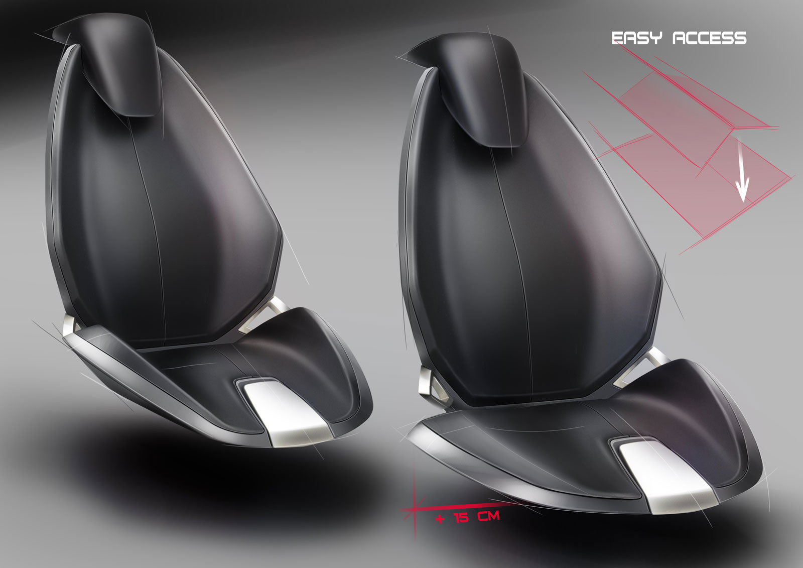 Spd Concept Car Interior Seat Design Sketches Car Body Design