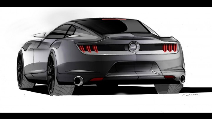 2015 Ford Mustang - Ideation Design Sketch