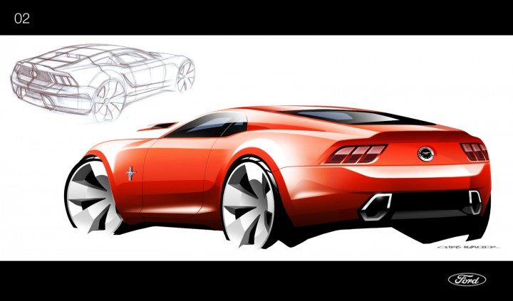 2015 Ford Mustang - Ideation Design Sketch by Chris Walter