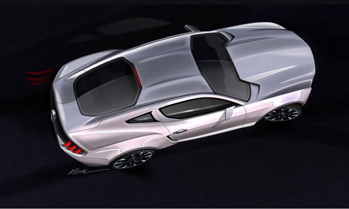 2015 Ford Mustang - Ideation Design Sketch by Kemal Curic