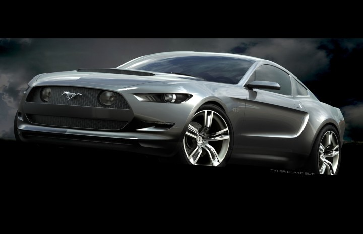 2015 Ford Mustang - Concept Model 3D Rendering