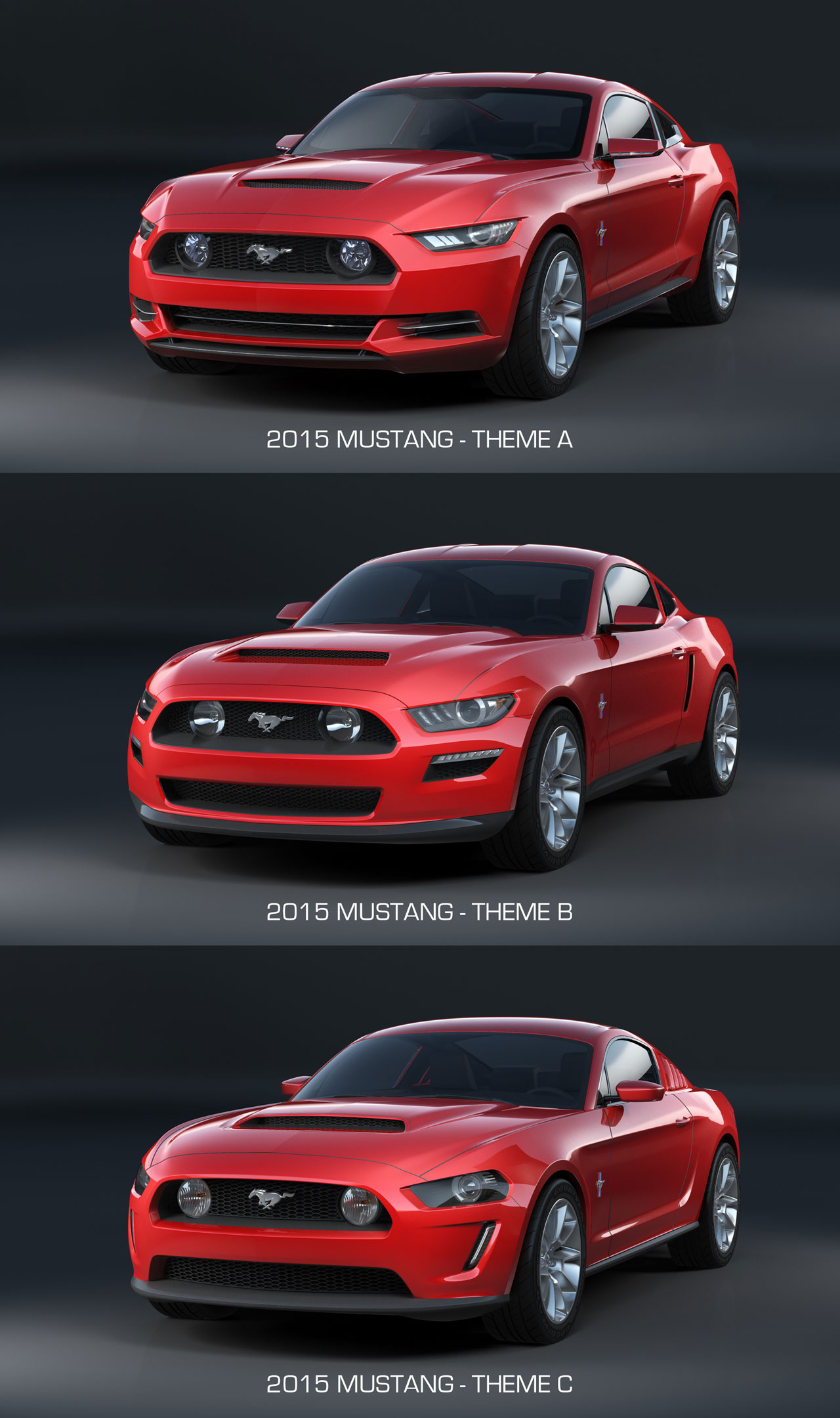 2015 ford mustang design theme comparison front end