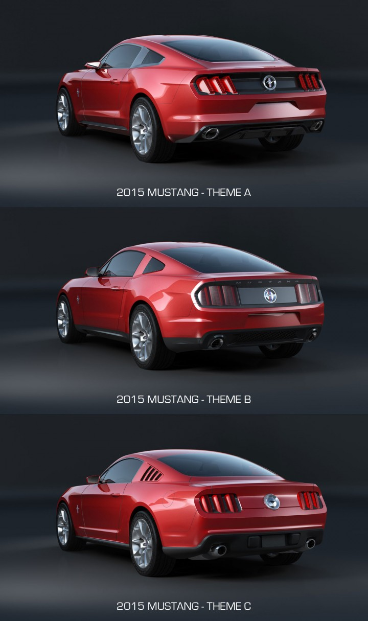 2015 Ford Mustang - Design Theme Comparison - Rear end