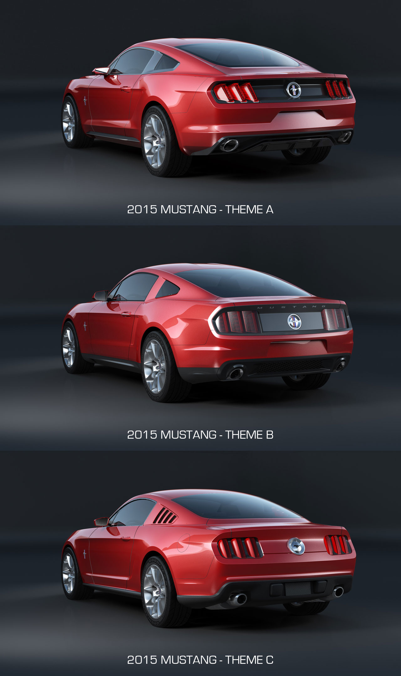 2015 ford mustang design theme comparison rear end