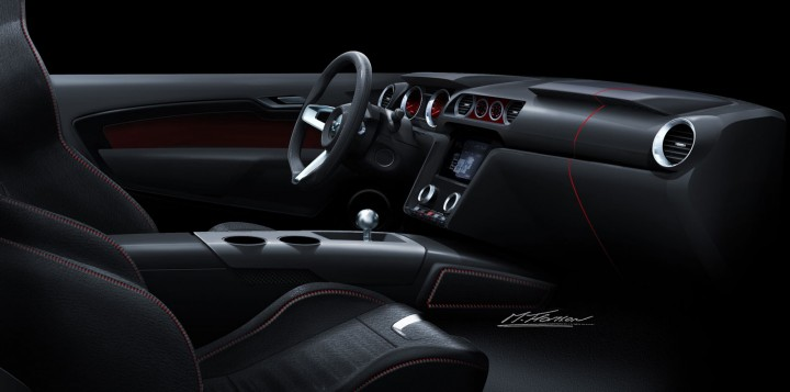 2015 Ford Mustang - Interior design rendering - Theme A