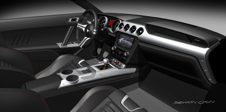 2015 Ford Mustang - Interior design rendering - Theme B