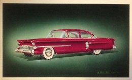 1952 Packard Clipper proposal - Airbrush Illustration by Bill Brownlie