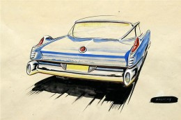 1957 Mercury - Design Sketch by Robert Malasky