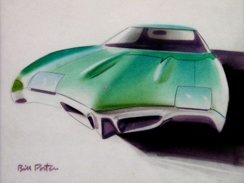 1968 Pontiac mid-size Pontiac Tempest-LeMans - Design Sketch by Bill Porter