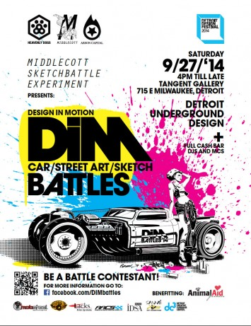 Design in Motion - Cars, Graffiti and Sketch Battles - Poster