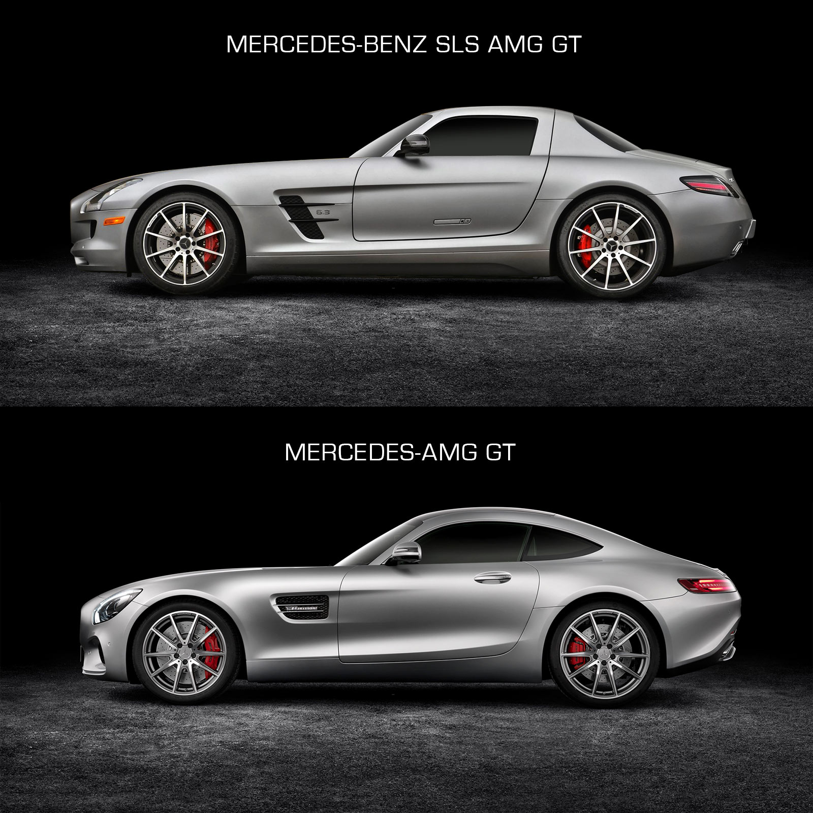 Mercedes-Benz SLS AMG GT And Mercedes-AMG GT