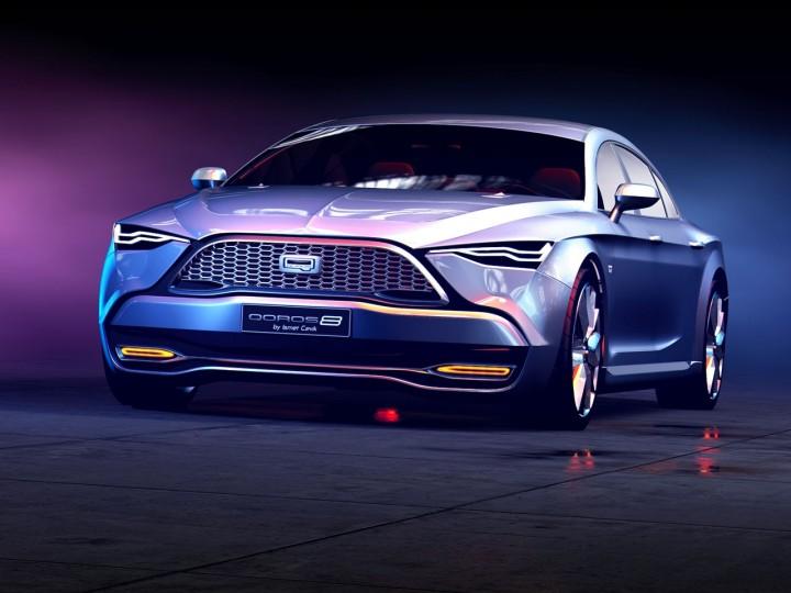 Qoros 8 Concept Car Body Design