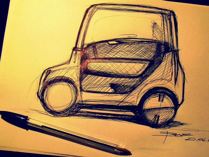 Side view car sketching tutorial