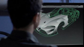 Toyota FT-1 Concept - CAD screenshot